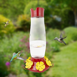 Grand Master Top-Fill Glass Hummingbird Feeder 48 oz.