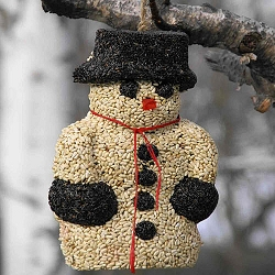 Snow Man Hanging Edible Bird Feeder