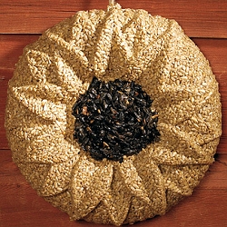 Sunflower Wreath Edible Bird Feeder