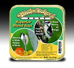 Birdwatcher's Best Superior Blend Suet Cake 11 oz 12/Pack