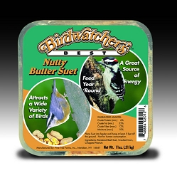 Birdwatcher's Best Nutty Butter Suet Cake 11 oz 12/Pack