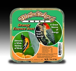 Birdwatcher's Best Orange Essence Suet Cake 11 oz 12/Pack