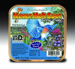 Never Melt Suet Berry Cake 13 oz 12/Pack
