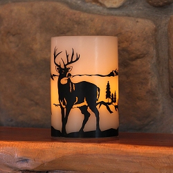 LED Candle Deer