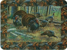 Tempered Glass Cutting Board Wild Turkeys