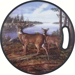 Round PPE Plastic Cutting Board Deer