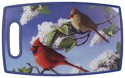 Rectangle PPE Plastic Cutting Board Cardinals