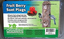 Songbird Suet Plugs Fruit Berry and Nut 12/Pack