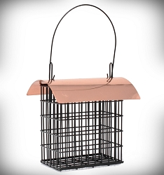 Double Suet Cage w/Copper Roof Set of 2
