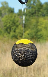 Sunflower Seed Sphere Feeder Yellow Set of 2
