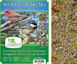 Songbird Essentials Shell-Free Patio Mix Bird Seed 20#