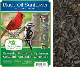 Songbird Essentials Black Oil Sunflower Bird Seed 40#
