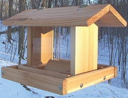 Select Cedar Small Hanging Hopper Feeder