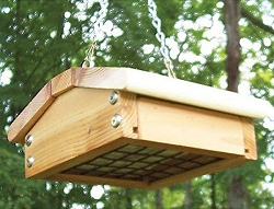 Select Cedar Small Upside-Down Suet Feeder