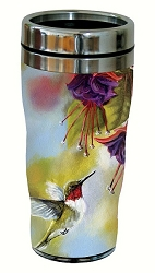 Ruby and Fuchsia 16 oz. Travel Tumbler