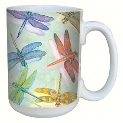 Dragonflies 15 oz. Lovely Mug