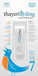 Guide To Birds of North America Version 7 USB Flash Drive Mac Edition