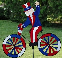 Uncle Sam Bicycle Wind Spinner Large