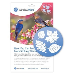 Window Alert Bird Collision Decal Leaf Medley 10/Pack