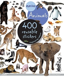 Eyelike Animals 400 Reusable Stickers