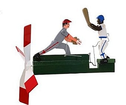 Classic Baseball Player Whirligig