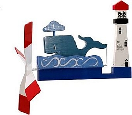 Classic Whale Whirligig