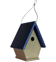 Chateau Recycled Poly Wren House Blue Roof