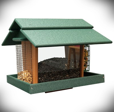 Amish Recycled Poly Classic Deluxe Feeder with Cages