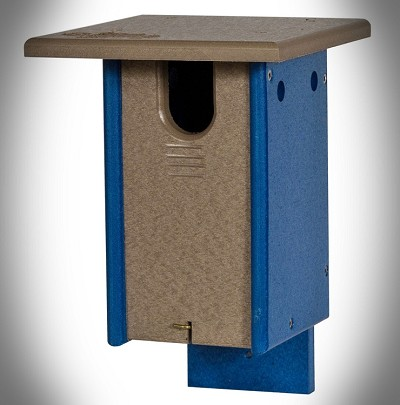 Amish Recycled Poly Small Sparrow Resistant Bluebird House