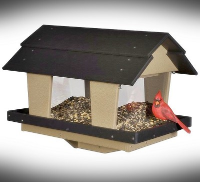 Amish Recycled Poly Classic Large Capacity Hopper Bird Feeder