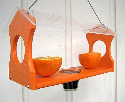 Recycled Poly Deluxe Hanging Oriole Feeder
