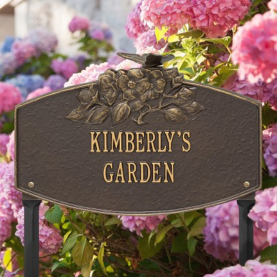 Butterfly Blossom Personalized Garden Plaque Bronze/Gold