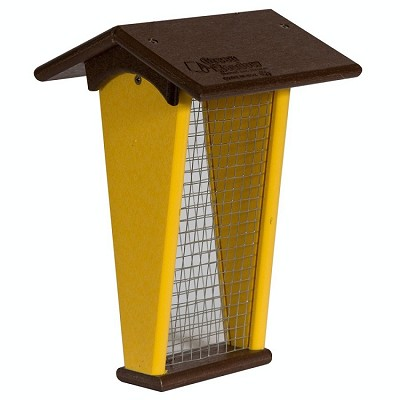 Amish Recycled Poly Shelled Peanut Feeder Milwaukee Brown/Lemon Yellow