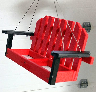 Amish Recycled Poly Hanging Porch Swing Feeder