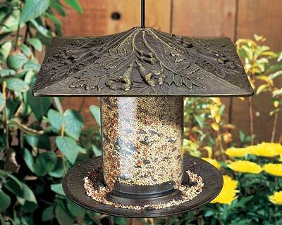 Whitehall Classic Trumpet Vine Seed Tube Bird Feeder Small French Bronze