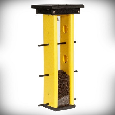 Amish Recycled Poly Finch Feeder Black/Lemon Yellow