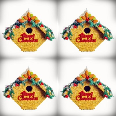 Juniper Casita Merry Christmas Birdhouse 4/Pack