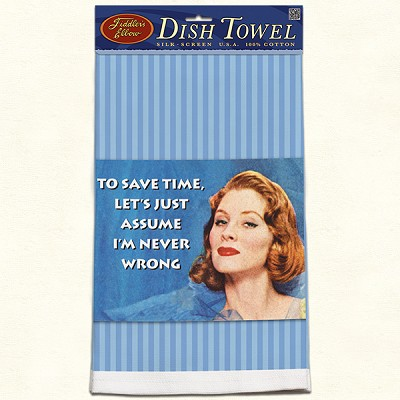 Fiddler's Elbow To Save Time Retro Dish Towel