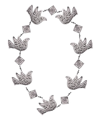 Punched Metal Garland Dove