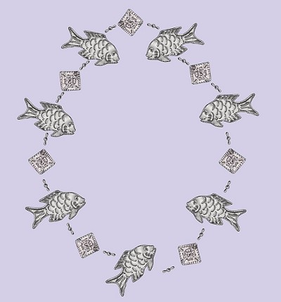 Punched Metal Garland Fish