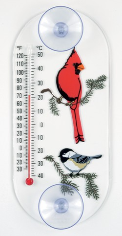 Cardinal/Chickadee Original Window Thermometer