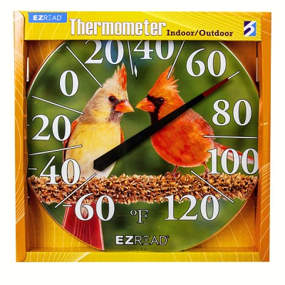 "EZ Read 12.5"" Cardinals Dial Thermometer"