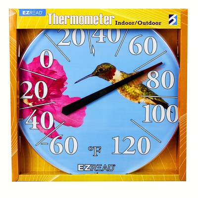 "EZ Read 12.5"" Hummingbird Dial Thermometer"