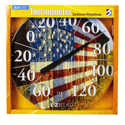 "EZ Read 12.5"" Barn Flag Dial Thermometer"