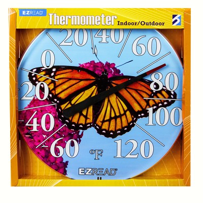 "EZ Read 12.5"" Monarch Butterfly Dial Thermometer"
