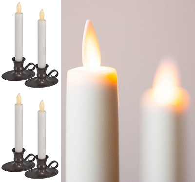 LED Taper Candle Set of 4