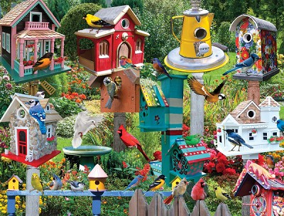 Birdhouse Village Jigsaw Puzzle 550 Piece