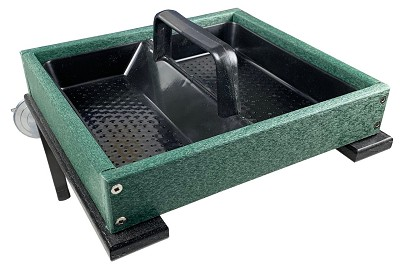 Recycled Poly Window Platform Feeder Green