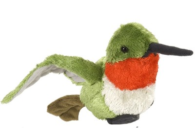 Cuddlekins Ruby-Throated Hummingbird 8""