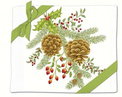 Holiday Pinecones Flour Sack Towel